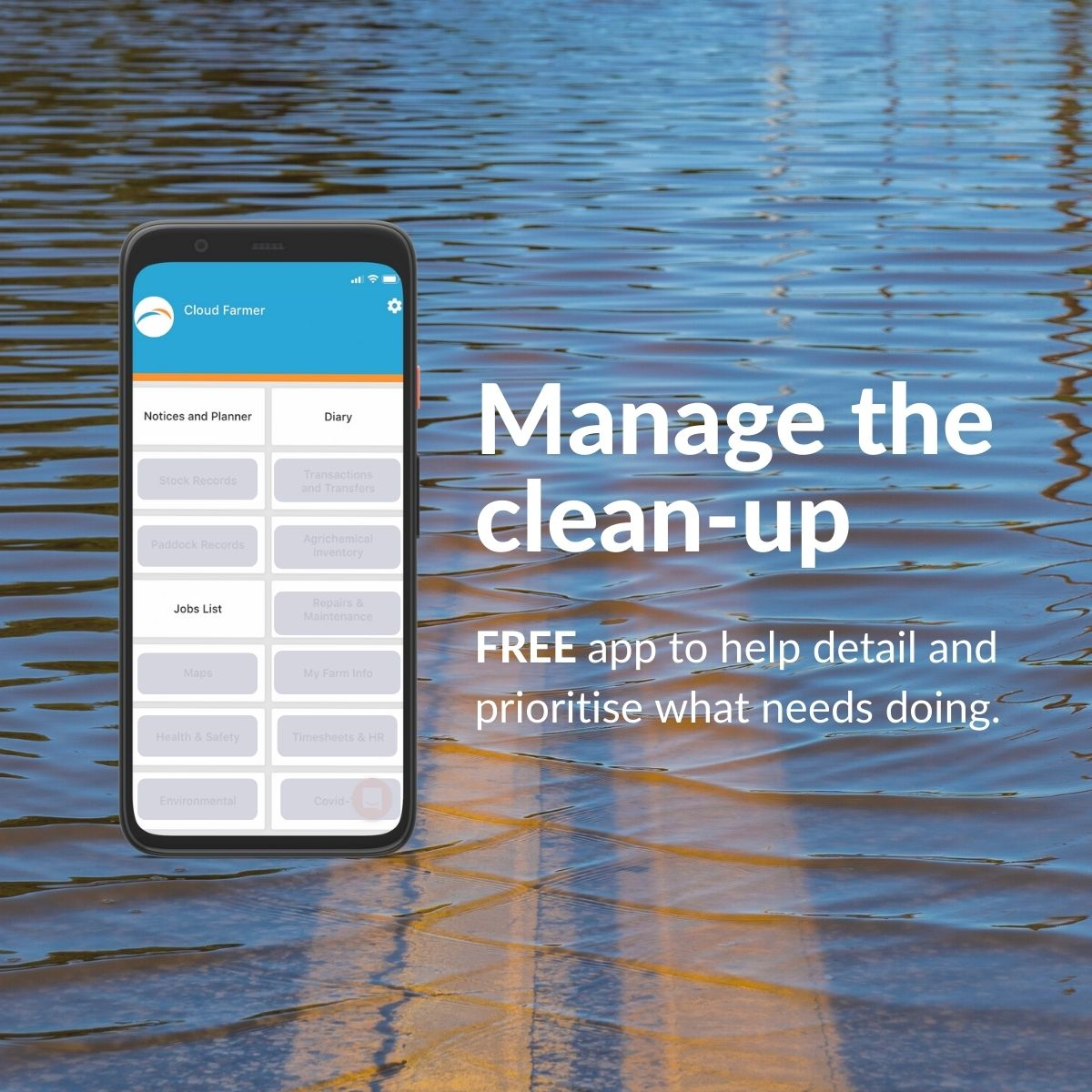 Manage the clean-up